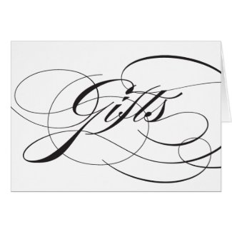 Flourish Gifts Reception Sign Greeting Card