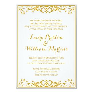 Flourish & Heart Wedding Invitation