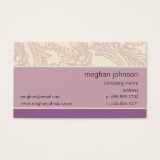 Flourish Lilac Chic Business Card Template