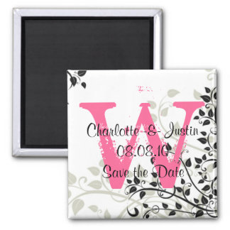 flourish monogram; save the date magnet