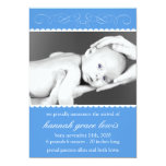 Flourish New Baby Announcements (Royal Blue)