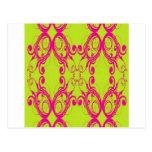 Flourish pattern design post cards