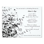 "Flourish shower invitation 4.25"" x 5.5"" invitation card"