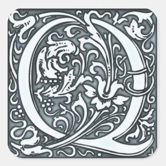 flourish silver monogram sticker