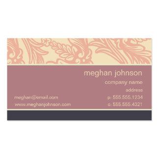Flourish Soft Eggplant Chic Business Card Template