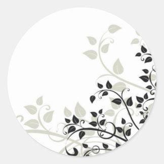 flourish round stickers