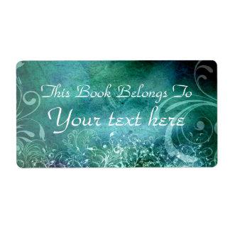 flourish texture bookplate shipping label