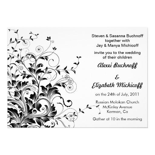 Flourish wedding invitation