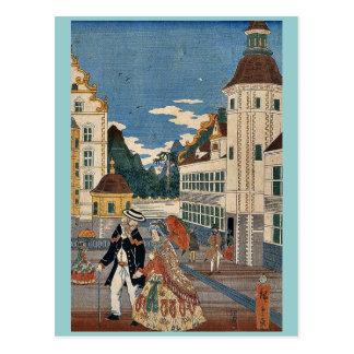 Flourishing America by Utagawa,Hiroshige Postcard