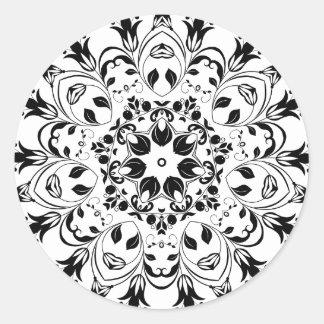 Flourishing-Floral-Design-800px Classic Round Sticker