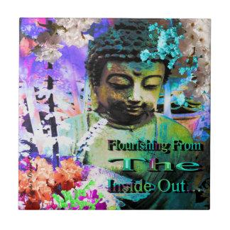Flourishing From Within Buddha Ceramic Tile