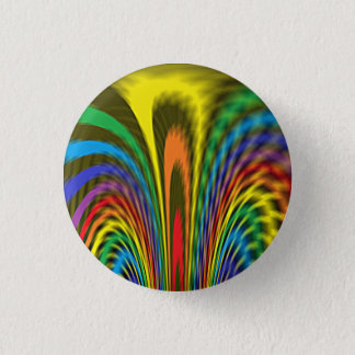 Flourishing Rainbow 3 Cm Round Badge