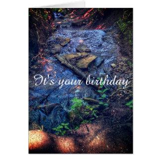 Flow birthday card