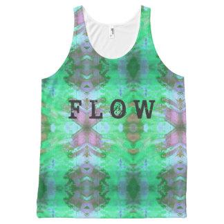 Flow Inked grunge All-Over Print Singlet