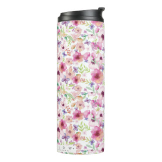 Flow - LONDON - Floral Travel Mug/Flask Thermal Tumbler