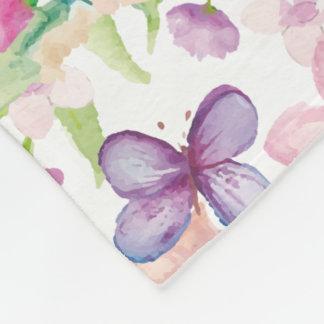 Flow - LONDON - Large Floral Fleece Blanket