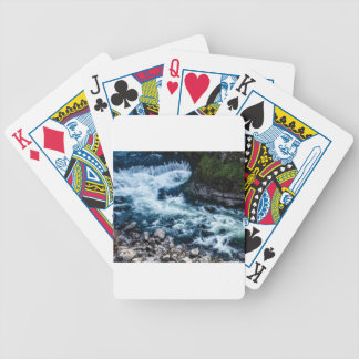 flow of the river white bicycle playing cards