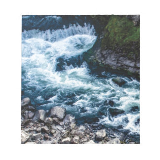flow of the river white notepad
