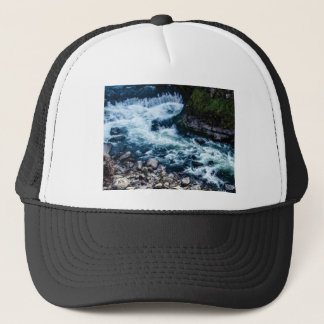 flow of the river white trucker hat