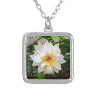 flower17 silver plated necklace
