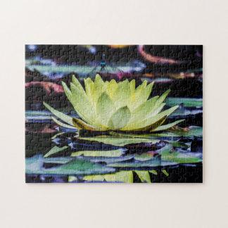 Flower 001 Waterlily Digital Art - Photo Puzzle