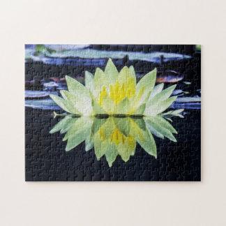 Flower 004 Waterlily Digital Art - Photo Puzzle