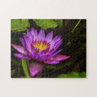 Flower 005 Waterlily Digital Art - Photo Puzzle