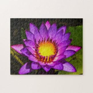 Flower 008 Waterlily Digital Art - Photo Puzzle