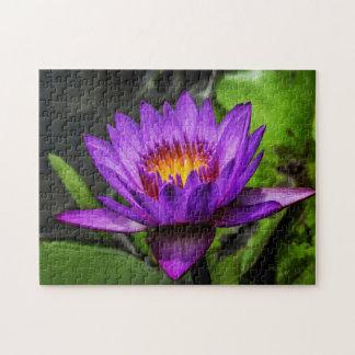 Flower 009 Waterlily Digital Art - Photo Puzzle