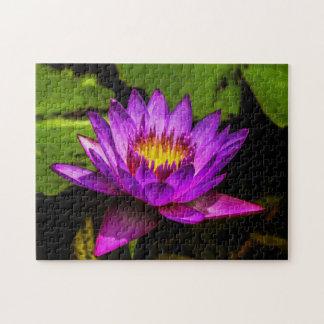 Flower 013 Waterlily Digital Art - Photo Puzzle