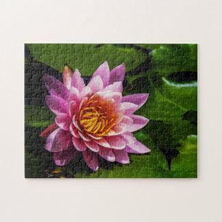 Flower 015 Waterlily Digital Art - Photo Puzzle