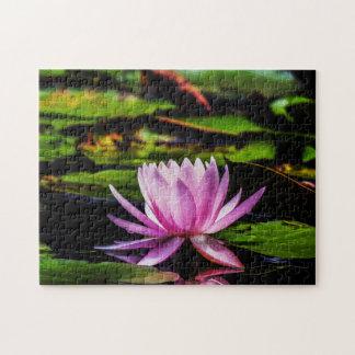 Flower 018 Waterlily Digital Art - Photo Puzzle