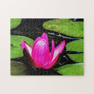 Flower 019 Waterlily Digital Art - Photo Puzzle