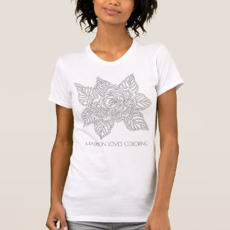 Flower 020617 Adult Colouring Fun Fashion Rose T-Shirt