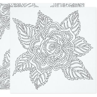 Flower 020617 Adult Colouring Rose Encouragement Card