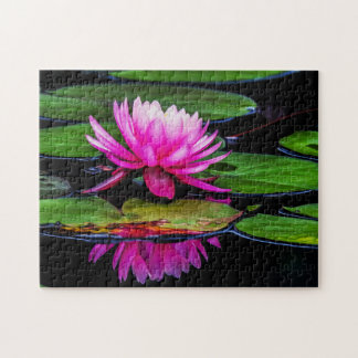 Flower 021 Waterlily Digital Art - Photo Puzzle