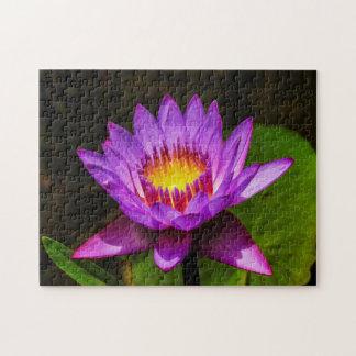 Flower 023 Waterlily Digital Art - Photo Puzzle