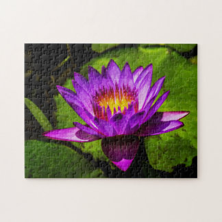 Flower 024 Waterlily Digital Art - Photo Puzzle