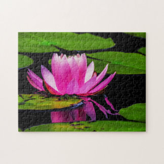 Flower 028 Waterlily Digital Art - Photo Puzzle