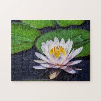 Flower 030 Waterlily Digital Art - Photo Puzzle