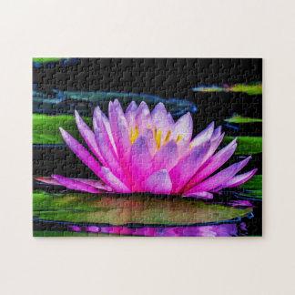 Flower 031 Waterlily Digital Art - Photo Puzzle