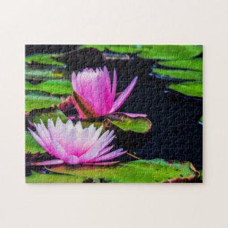 Flower 034 Waterlily Digital Art - Photo Puzzle