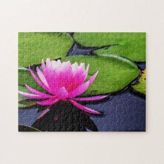 Flower 036 Waterlily Digital Art - Photo Puzzle