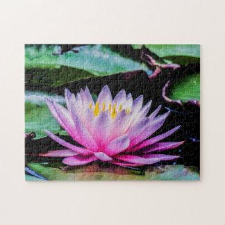 Flower 039 Waterlily Digital Art - Photo Puzzle