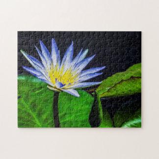 Flower 042 Waterlily Digital Art - Photo Puzzle