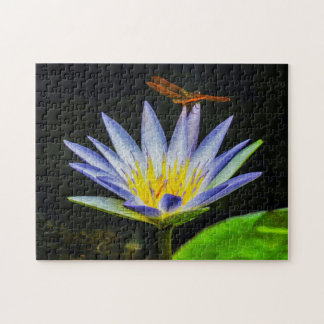 Flower 043 Waterlily Digital Art - Photo Puzzle