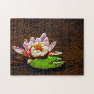 Flower 049 Waterlily Digital Art - Photo Puzzle