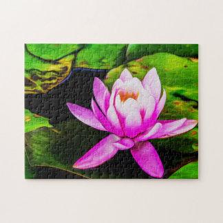 Flower 058 Waterlily Digital Art - Photo Puzzle