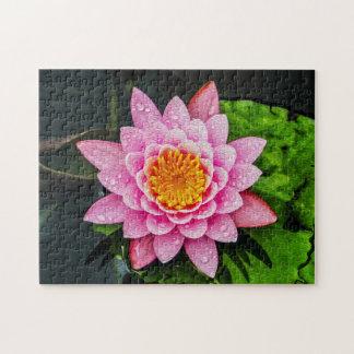 Flower 061 Waterlily Digital Art - Photo Puzzle