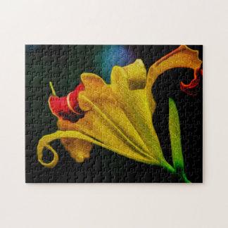Flower 064 Digital Art - Photo Puzzle